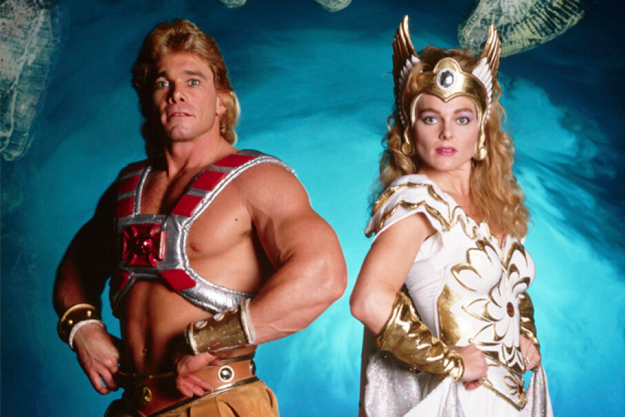 Actors in 1987 portray the characters of He-Man and She-Ra. © Neal Preston/Corbis