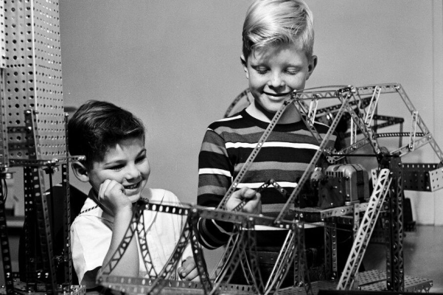 The intricate Erector set was fun and functional.  Rae Russel/Archive Photos/Getty Images