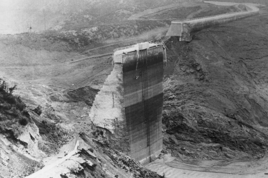 Just two years after the St. Francis dam was built outside Los Angeles in 1926, it collapsed, killing as many as 600. Bettmann/CORBIS