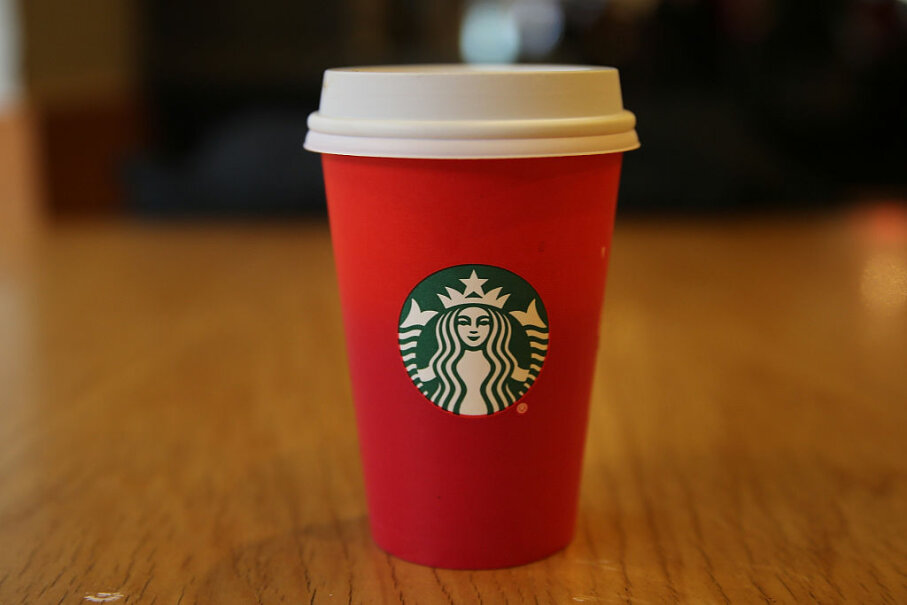 The 2015 Starbucks holiday cup launched a thousand articles and complaints. Spencer Platt/Getty Images