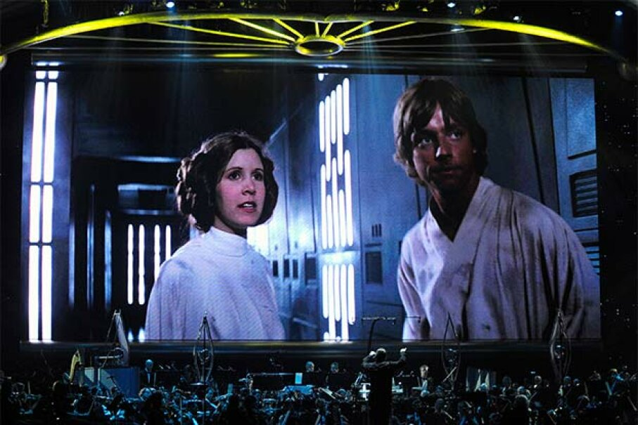Princess Leia and Luke Skywalker (from 'Star Wars') may have come from a galaxy far far away, but their English was terrific. Ethan Miller/Getty Images