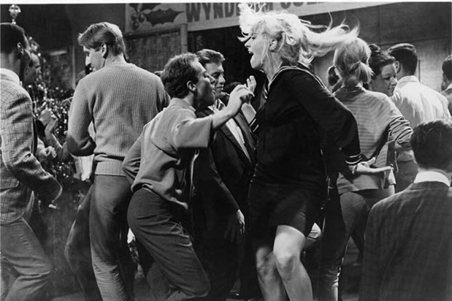 Choreographed break-out numbers have been part of film for decades. Here, a wild watusi marks the high point of a college vacation dance in a scene from the 1964 film 'Get Yourself A College Girl.' Metro-Goldwyn-Mayer/Getty Images