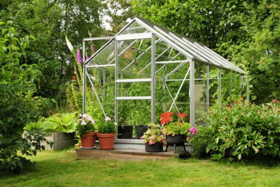 Even a freestanding structure, like this greenhouse, can be an office if you're using it for work. a40757/iStockphoto/ThinkStock