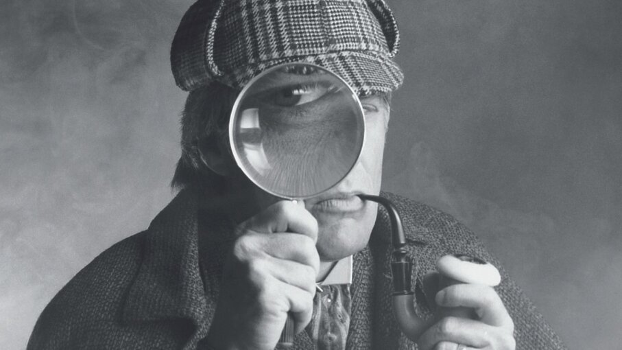 Detective with a pipe