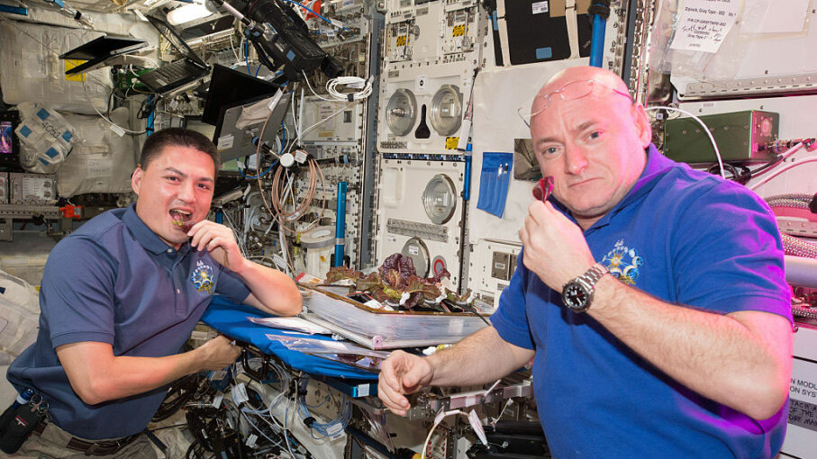 Scott Kelly, Kjell Lindgren, food, space station