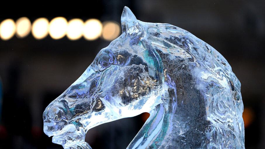 Ice sculpture unicorn