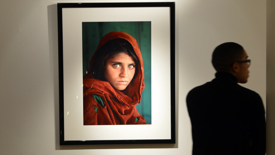 Afghan Girl, auction