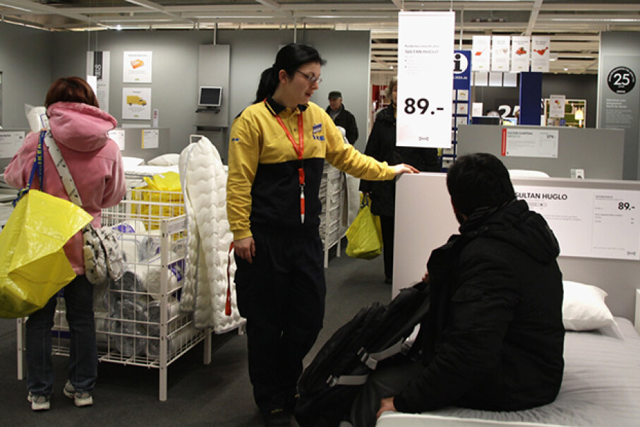 Remember to talk to and treat IKEA employees like humans. Andreas Rentz/Getty Images News/Thinkstock