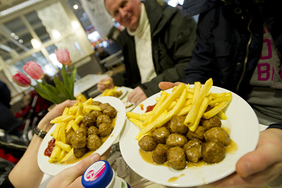 IKEA has not yet developed a program to help people who suffer from meatball addiction. MARCEL ANTONISSE/AFP/Getty Images