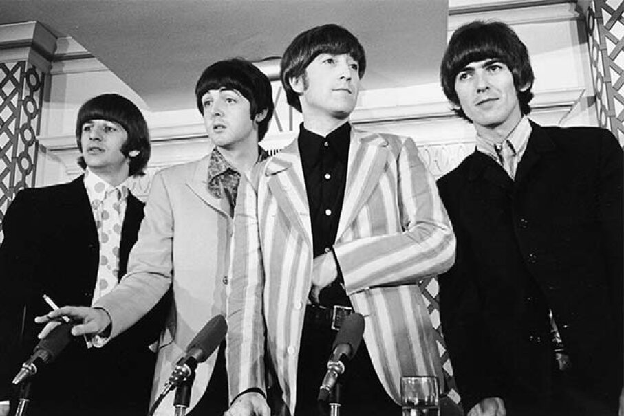 And you thought the Beatles got to the  top because of their talent, looks and charm! No -- it was all thanks to Illuminati manipulation. Santi Visalli Inc./Getty Images