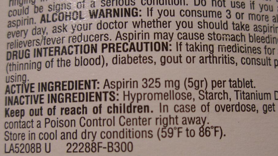 Inactive ingredients, FDA