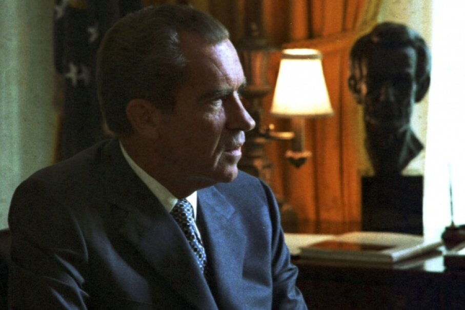 President Nixon secretly taped conversations for posterity, but that practice ended up causing him all kinds of trouble. © Universal History Archive/Getty Images