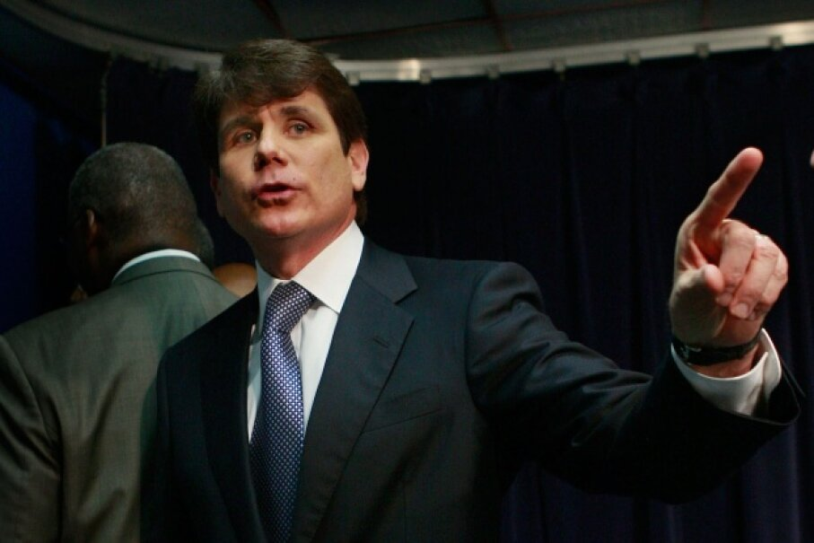 Blagojevich was taken into federal custody Dec. 9, 2008 to face corruption charges which included trying to sell Obama's Senate seat. ©Scott Olson/Getty Images