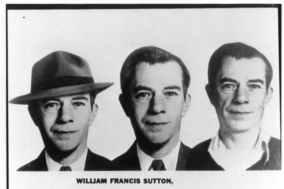 Once one of the FBI's Ten Most Wanted Fugitives, Willie Sutton was the master of disguises until his final capture in 1952. Image courtesy FBI.gov