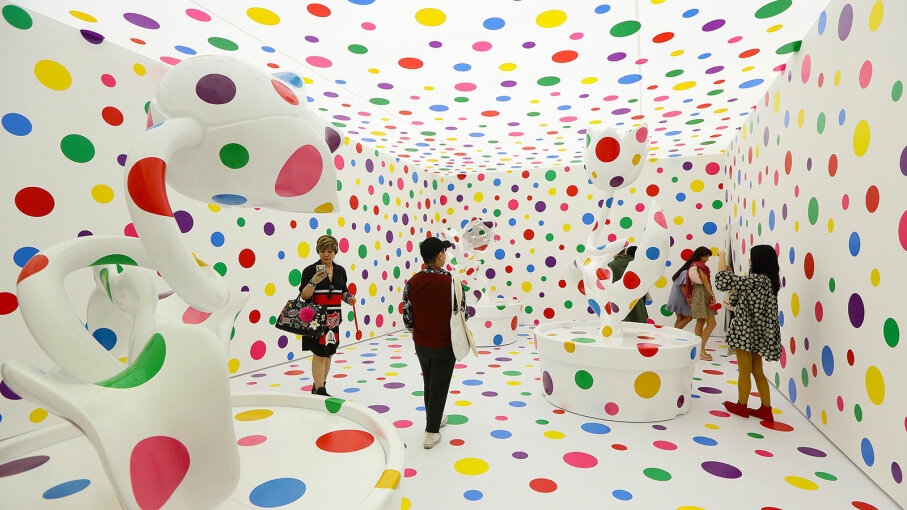 With All My Love for Tulips, I Pray Forever 2013' Yayoi Kusama