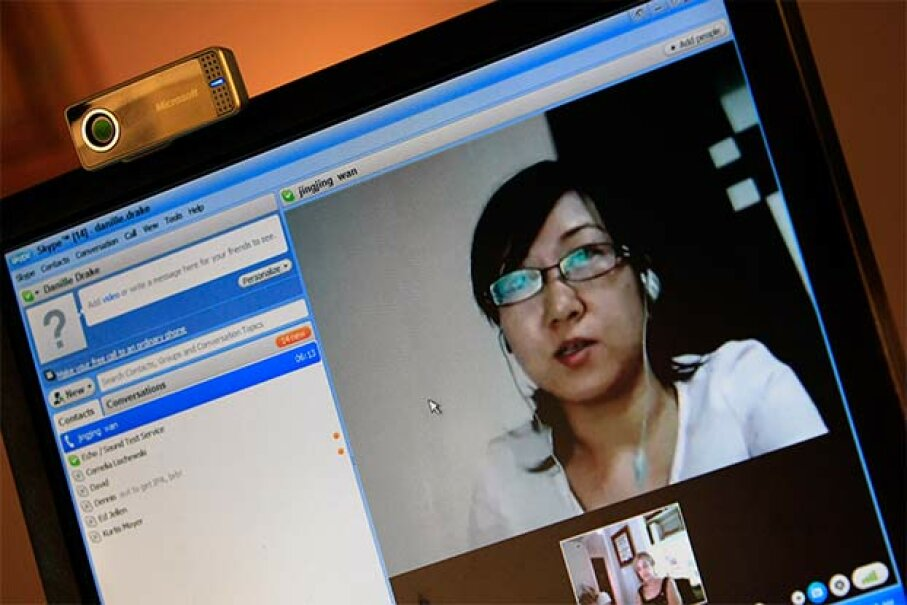 From her home office in the U.S. Dr. Danille Drake talks with Jing Jing Huang, a psychiatrist in China, during their weekly Skype call. Dr. Drake supervises Jing Jing Huang as she learns Freudan psychoanalysis. The Washington Post/Getty Images