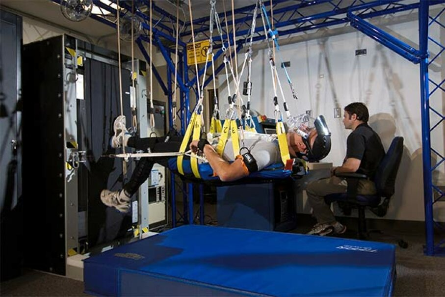 This NASA study was the first to demonstrate that exercise alone was completely effective for preventing deconditioning during strict bed-rest, using exercise equipment similar to that on the International Space Station. NASA