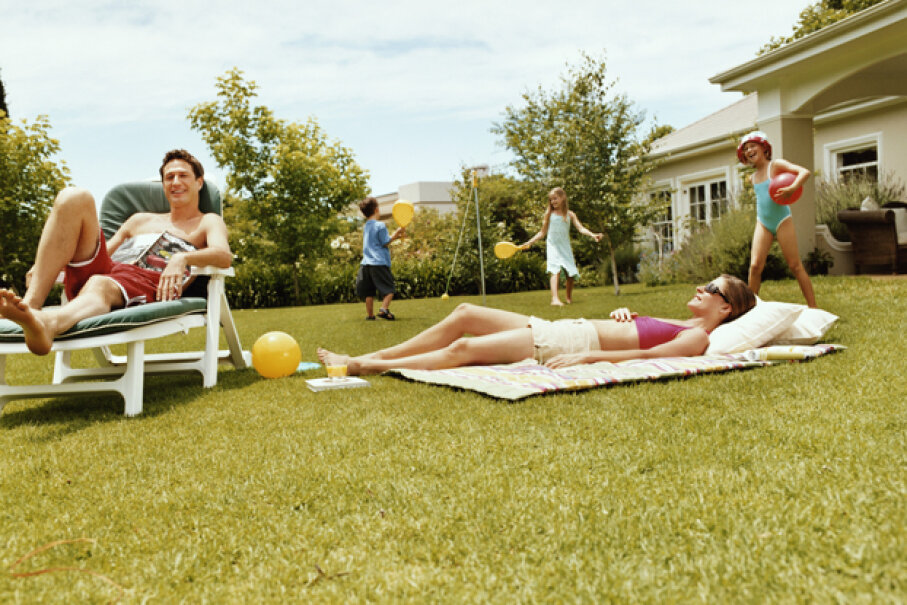 Lawn games will keep the kids entertained at the next outdoor party. You can make your own too. Digital Vision/Thinkstock