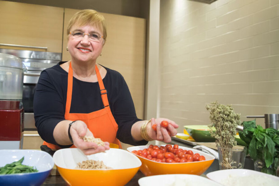 Lidia Bastianich teaching a pasta-making class at Eataly in New York City in 2015. Ben Hider/Getty Images
