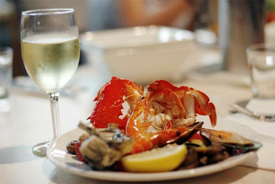 Nothing like a lovely lobster dinner with a glass of champagne! Photography by Bobi/Moment/Thinkstock