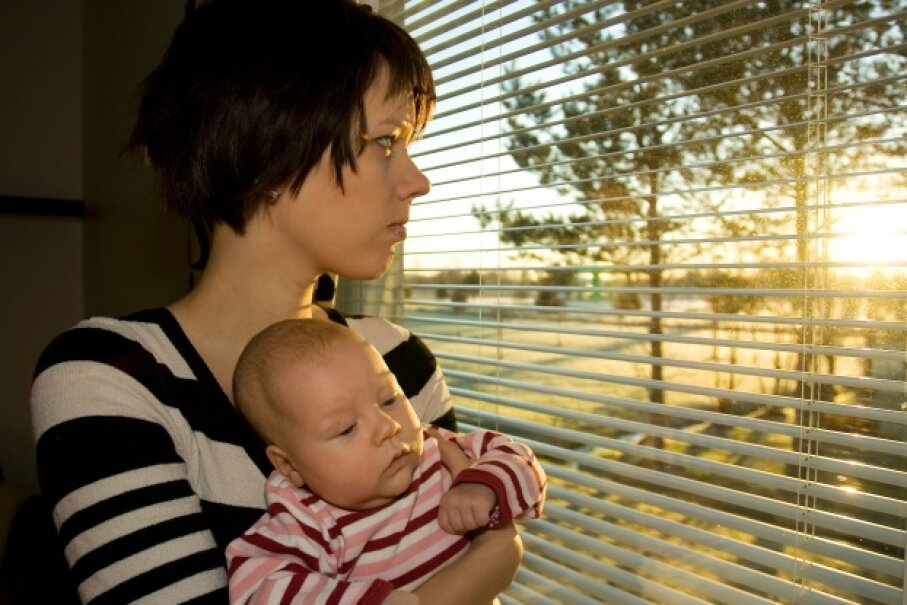 Postpartum psychosis is not the same as postpartum depression. If you think you have either, seek professional help. Mika Heittola/Hemera/Thinkstock