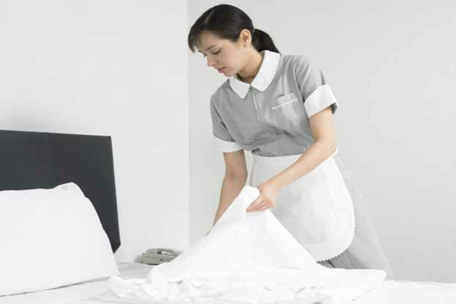 It must be hard to work as a maid after winning $3 million. Digital Vision/Photodisc/Thinkstock