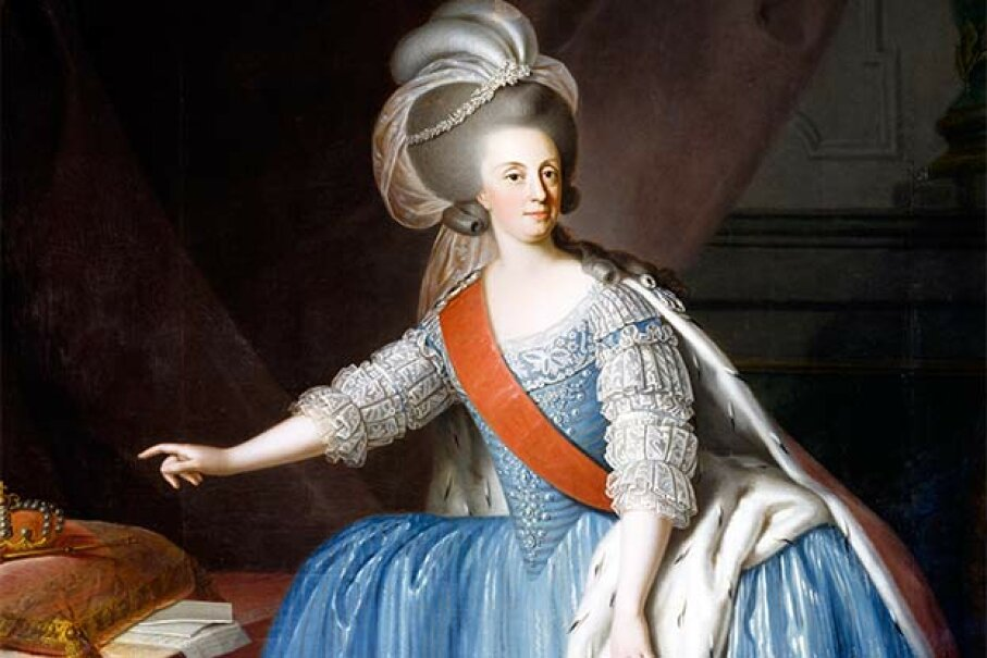 This portrait of Maria I of Portugal was done by an unknown 18th century artist. DeAgostini/Getty Images