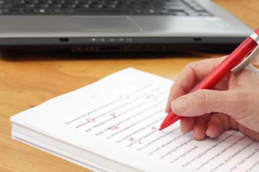 If you're good at English and have an eye for detail, you could be proofreader. © iStockphoto.com/ Pixsooz