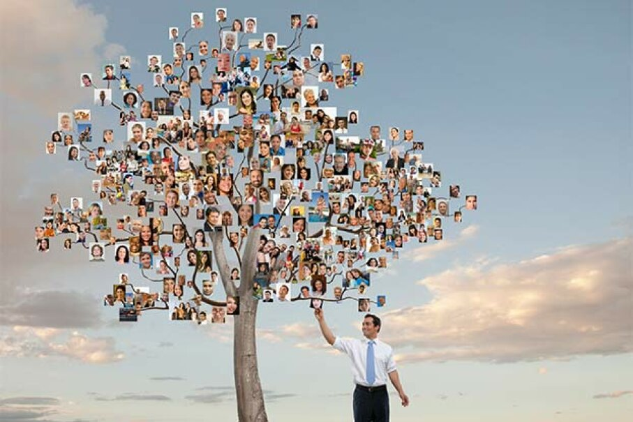 Start out with a visual idea of what you want your family tree to look like. John Lund/Getty Images