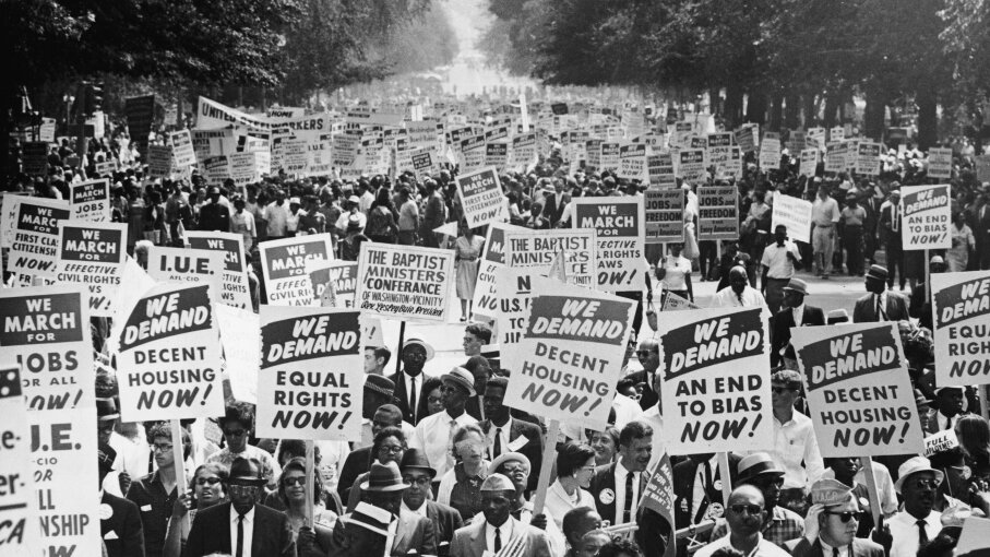 March on Washington, civil rights protesters