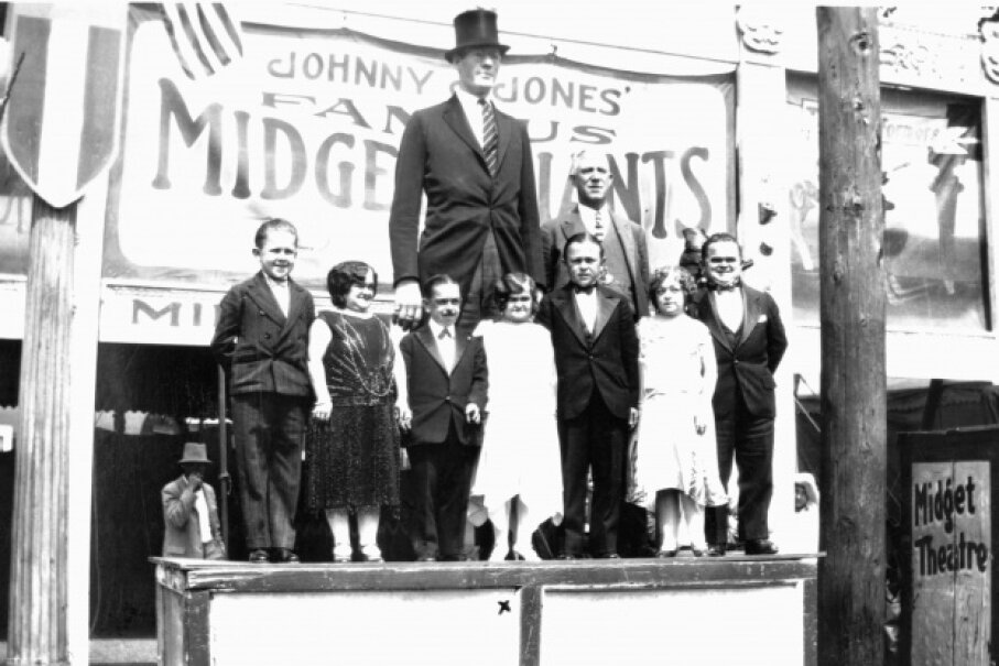 Gigantism sometimes causes people to grow to extreme heights. © Historical/CORBIS