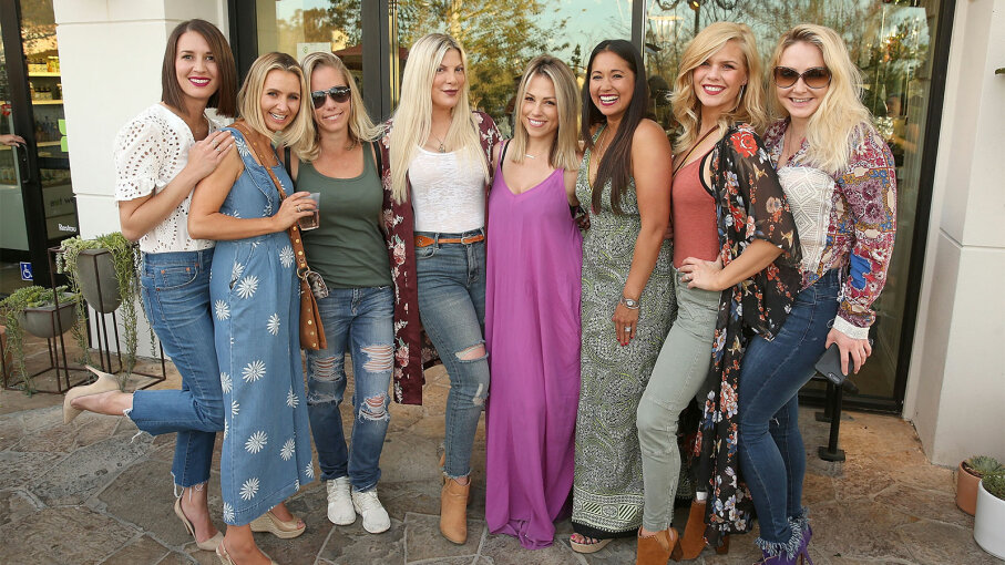 Erin Ziering, Beverley Mitchell, Kendra Wilkinson, Tori Spelling, Jessica Hall, Veena Crownholm, Kimberly Caldwell and Nikki Lund
