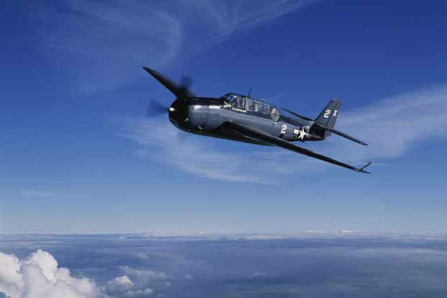This TBM Avenger was flown by Pres. George H.W.  Bush during World War II. © Skyscan/Corbis