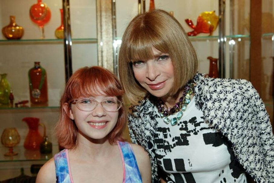 Blogger Tavi Gevinson (left) posed for a photo with Vogue editor-in-chief Anna Wintour back in 2010 when she was all of 14. Paul Morigi/Getty Images for Barneys New York