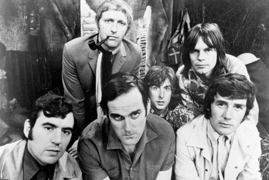 The Monty Python sketch comedy group circa 1970. Michael Ochs Archives/Getty Images