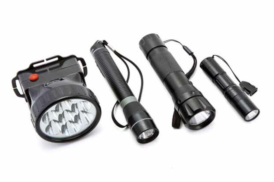 It's good to have a range of flashlights on-hand for different needs. fontgraf/iStock/Thinkstock