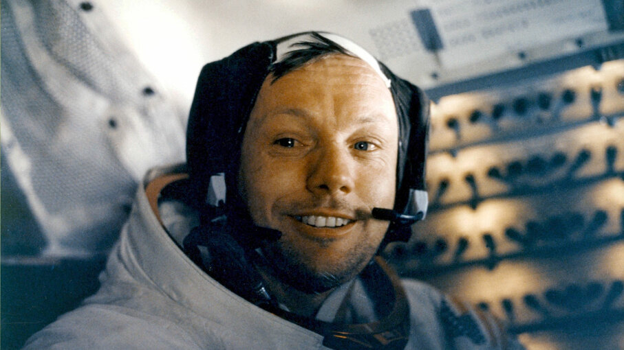 Neil Armstrong in the Apollo 11 lunar module
