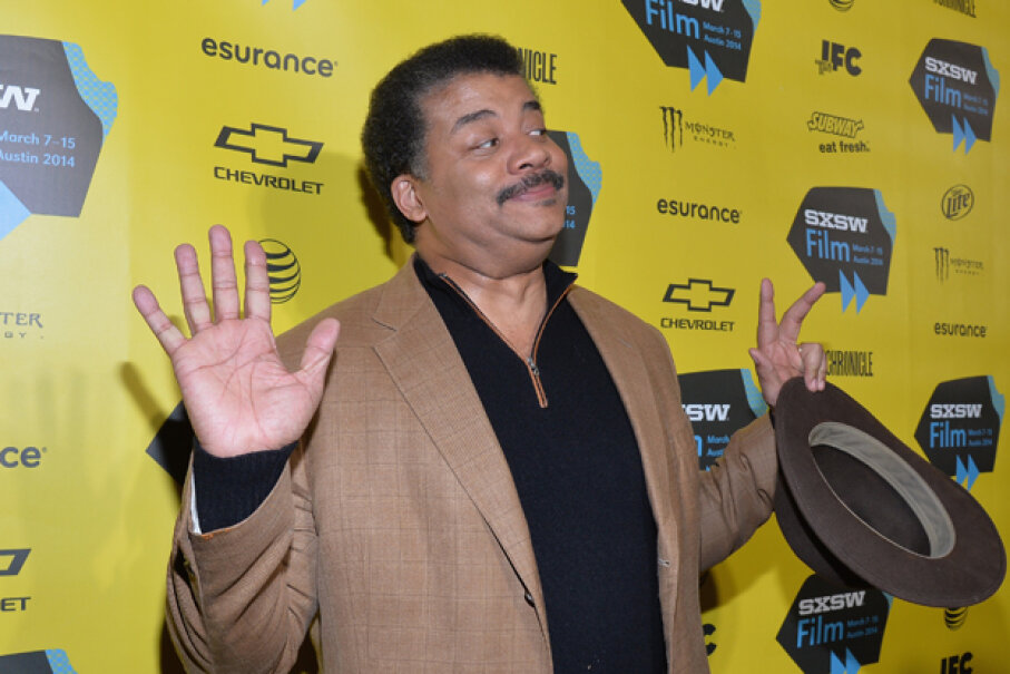 Tyson recreates his 'that's my man, right there' pose, which has become an Internet meme. Michael Buckner/Getty Images for SXSW