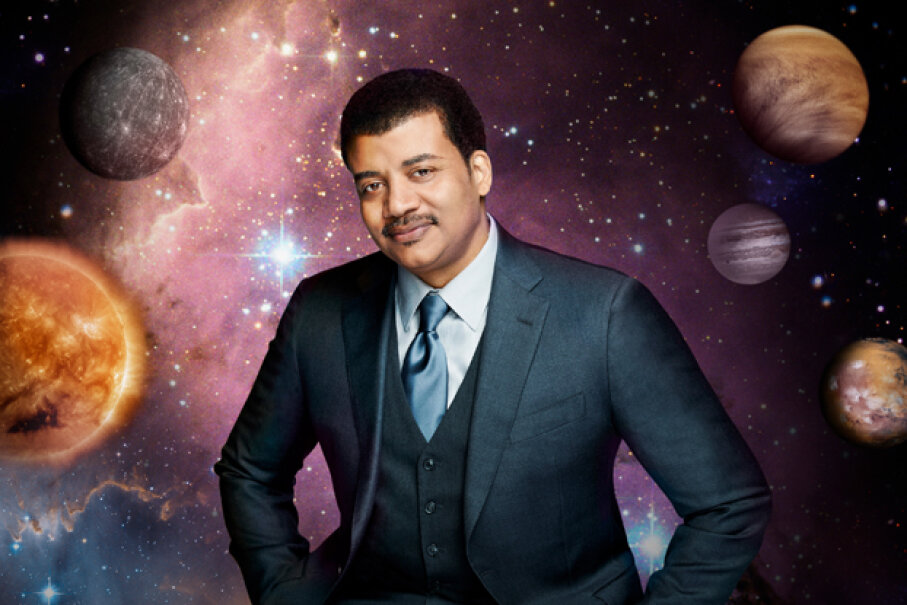 Is this the hardest-working astrophysicist? NDT is shown in another promotional shot for 'Cosmos.' FOX via Getty Images
