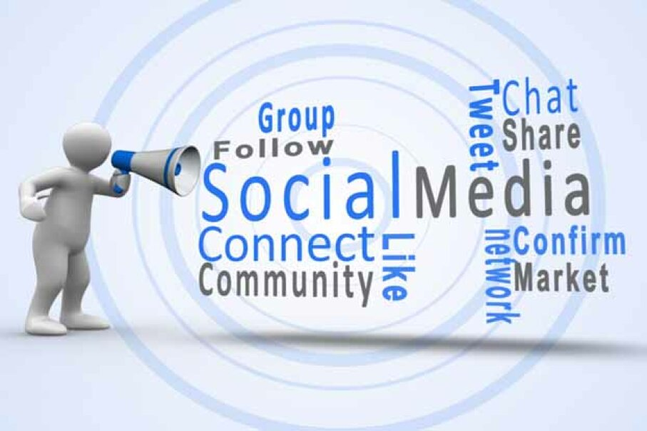 Social Media (like Facebook and Twitter) can aid in your job search or business growth by letting you message people you don't talk with every day. Wavebreak Media/Thinkstock