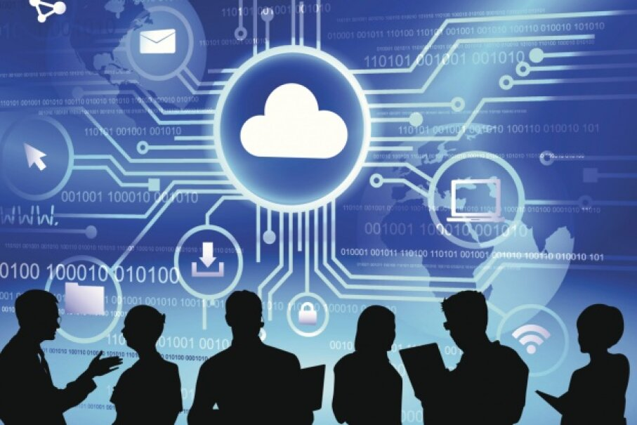 Working with cloud storage and implementing seamless integration with on-site resources is all part of a cloud computing specialist's work. © Robert Churchill/iStock/Thinkstock