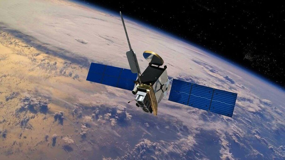 Pictured is a commercial satellite in orbit. A South African nongovernmental organization called Meta Economic Development Organization has enlisted the help of some female high school students to launch the country's first private satellite. Erik Simonsen/Getty Images