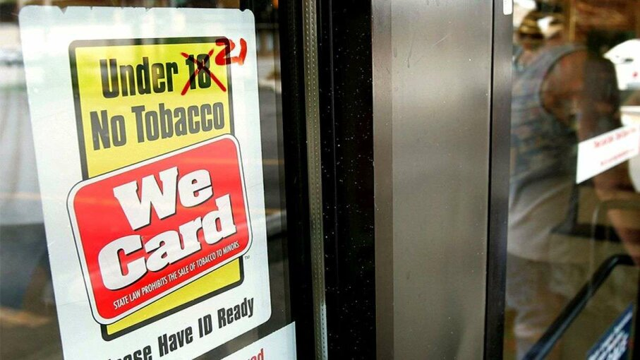 If Tobacco 21 has its way, signs like this in most states will change from 18 to 21. Tim Boyle/Getty Images