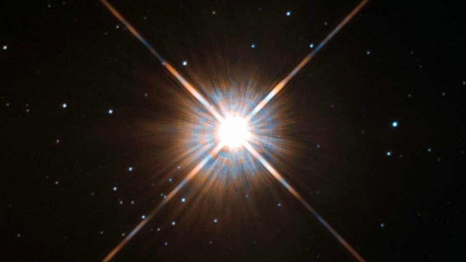 Even though Proxima Centauri, the nearest star to us, shines brightly in this picture that Hubble snapped, we can't see it with the naked eye. ESA/Hubble & NASA