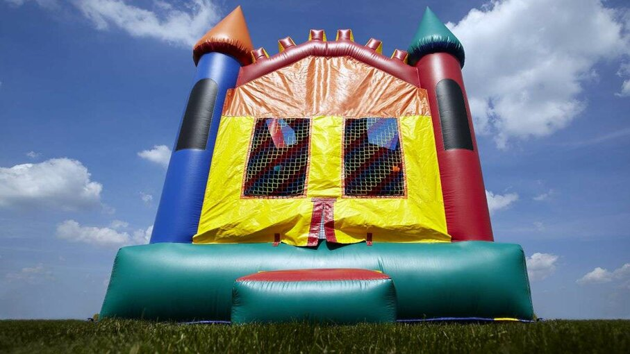 UGA researchers suspect that heat-related illness is an underreported hazard of bounce houses. Kids (and adults) also have been known to fracture, sprain and strain their various extremities while hopping around in an inflatable. Paul Velgos/Getty Images