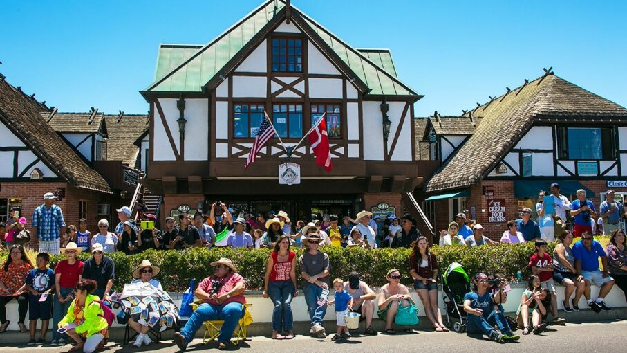 The climate in Southern California may be nothing like that of Denmark, but the town of Solvang doesn't seem bothered. George Rose/Getty Images