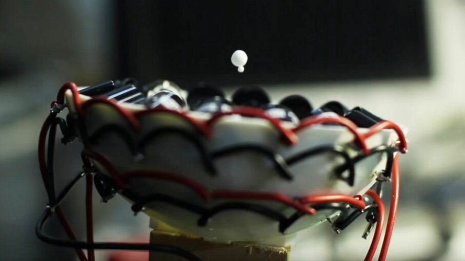 Scientists have devised a way to use acoustic waves to levitate and control matter, and they're sharing their plans with the public. BristollG/YouTube