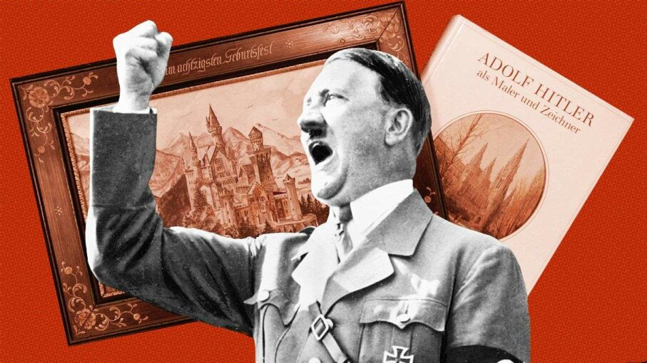 The paintings Adolf Hitler created as a young artist occasionally come up for auction, as the one above did in June 2015. D. Fagan/HowStuffWorks; Roger Viollet & Christof Stache/Getty Images