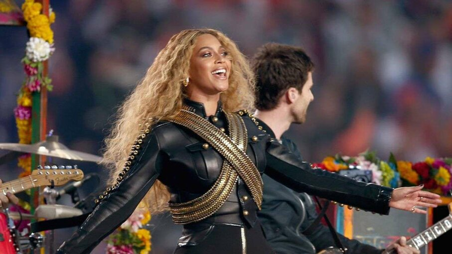 Beyonce performs onstage during the Pepsi Super Bowl 50 Halftime Show  on Feb. 7, 2016 in Santa Clara, California, where she name-checked Red Lobster in a song. Matt Cowan/Getty Images
