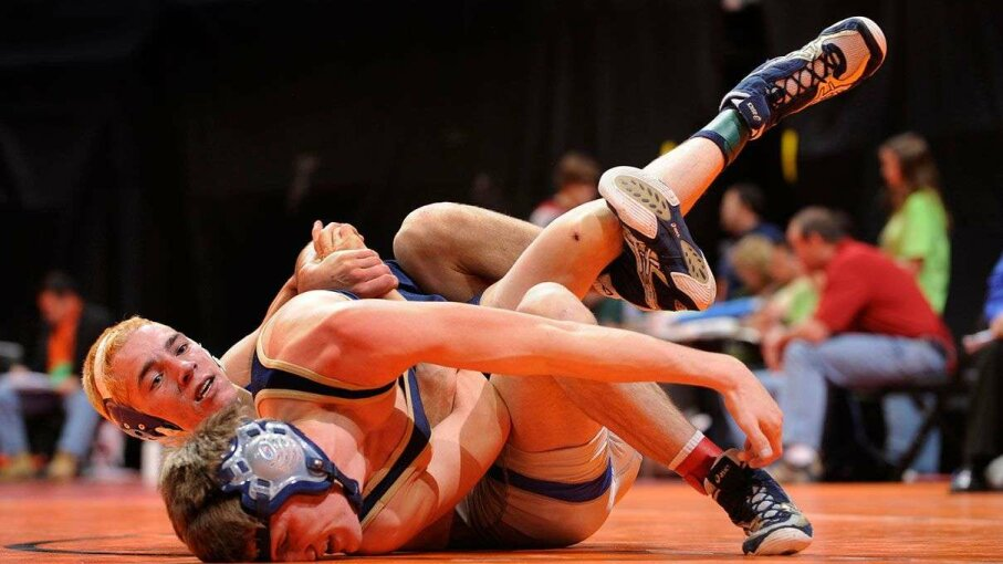 """Wrestlers are sometimes prone to a type of herpes called """"mat herpes"""" or Herpes Gladiatorium Karl Gehring/The Denver Post via Getty Images"""